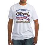 Navy Daughter Fitted T-Shirt