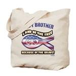 Navy Brother Tote Bag