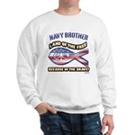 Navy Brother Sweatshirt
