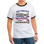 Navy Brother Ringer T