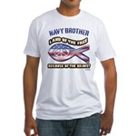 Navy Brother Fitted T-Shirt