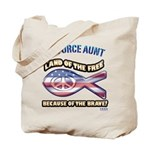 Airforce Aunt Tote Bag