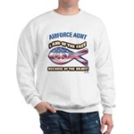 Airforce Aunt Sweatshirt