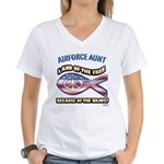 Airforce Aunt Women's V-Neck T-Shirt