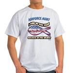 Airforce Aunt Light T-Shirt