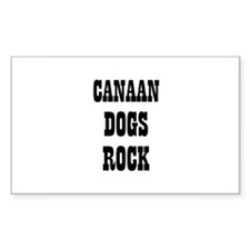 CANAAN DOGS ROCK Rectangle Decal