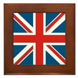 British Flag Framed Tile