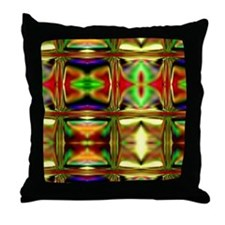 'Stained Glass Sunset' Throw Pillow