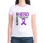 Pancreatic Cancer Sister Jr. Ringer T-Shirt
