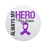 Pancreatic Cancer Sister Ornament (Round)