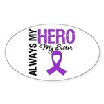Pancreatic Cancer Sister Oval Sticker (50 pk)