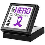 Pancreatic Cancer Sister Keepsake Box