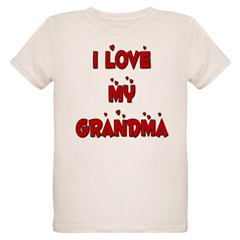 I Love My Grandma Organic Kids T-Shirt