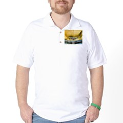 Yellow Chevy Hood Golf Shirt