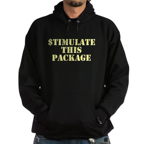 Stimulate This Package Dark Hoodie