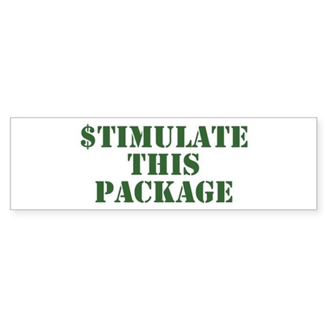 Stimulate This Package Bumper Sticker
