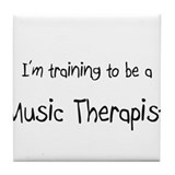 I'm training to be a Music Therapist Tile Coaster