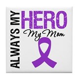 Pancreatic Cancer Mom Tile Coaster