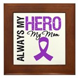 Pancreatic Cancer Mom Framed Tile