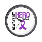 Pancreatic Cancer Husband Wall Clock