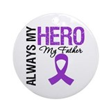 Pancreatic Cancer Father Ornament (Round)