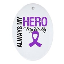 Pancreatic Cancer Daddy Oval Ornament