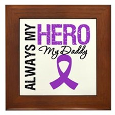 Pancreatic Cancer Daddy Framed Tile