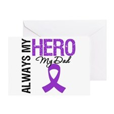 Pancreatic Cancer Dad Greeting Card