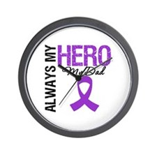 Pancreatic Cancer Dad Wall Clock