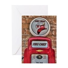 Fire Chief Pump Greeting Card