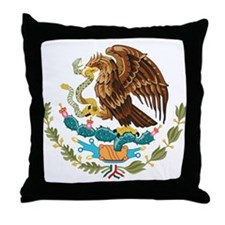 Mexico Coat of Arms Throw Pillow