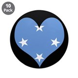 I love micronesia Flag 3.5&quot; Button (10 pack)