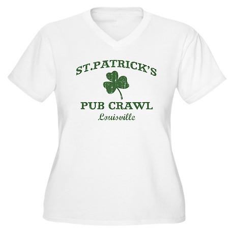 Louisville pub crawl Women's Plus Size V-Neck T-Sh