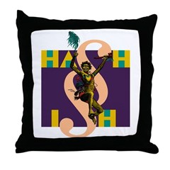 Hash Warrior Throw Pillow