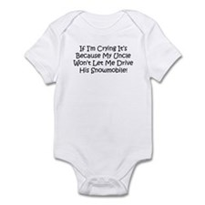 Drive My Uncles Snowmobile Infant Bodysuit