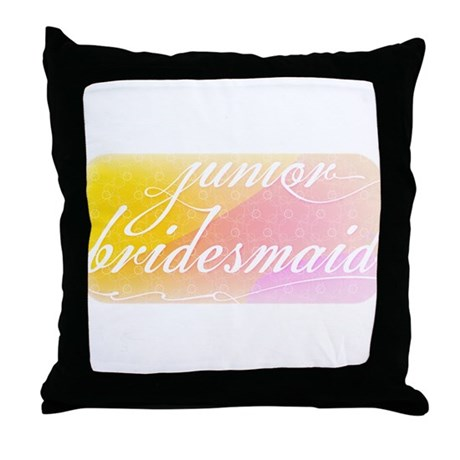 Fancy white handwriting scrip Throw Pillow