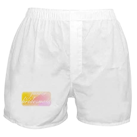 Fancy white handwriting scrip Boxer Shorts