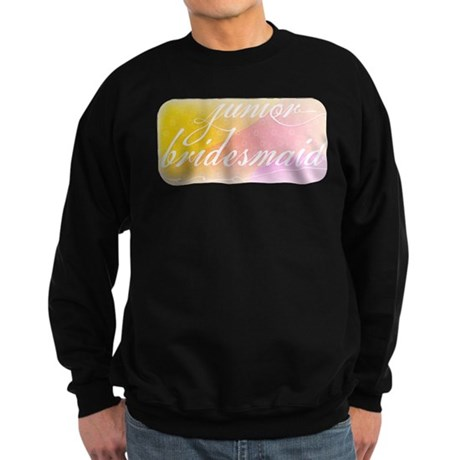 Fancy white handwriting scrip Sweatshirt (dark)