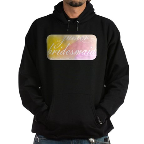 Fancy white handwriting scrip Hoodie (dark)