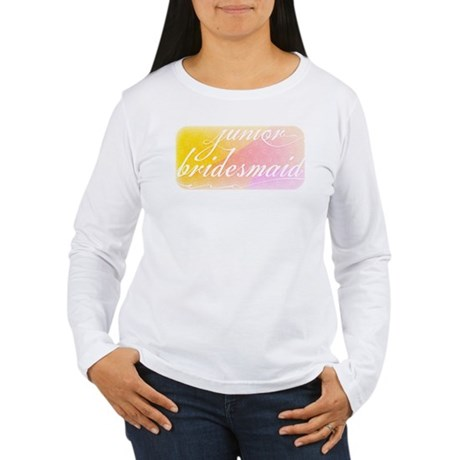 Fancy white handwriting scrip Women's Long Sleeve