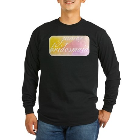 Fancy white handwriting scrip Long Sleeve Dark T-S
