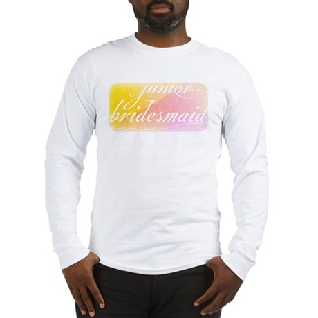 Fancy white handwriting scrip Long Sleeve T-Shirt