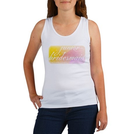 Fancy white handwriting scrip Women's Tank Top
