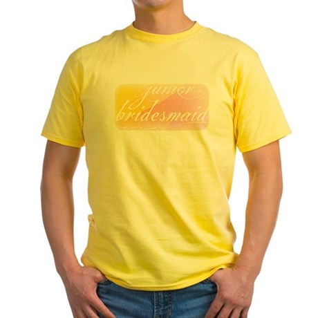 Fancy white handwriting scrip Yellow T-Shirt