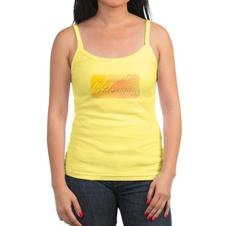 Fancy white handwriting scrip Jr. Spaghetti Tank