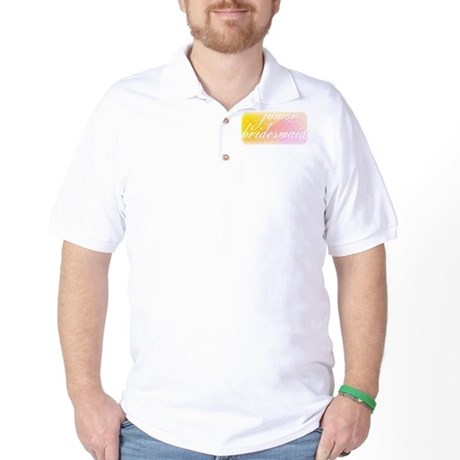 Fancy white handwriting scrip Golf Shirt