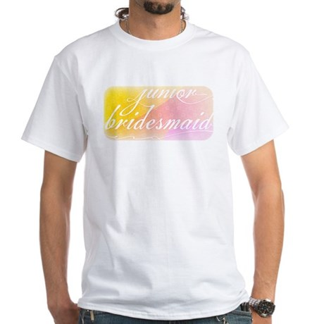 Fancy white handwriting scrip White T-Shirt