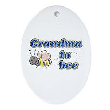 Grandma to bee Oval Ornament