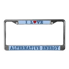I Love Alternative Energy License Plate Frame