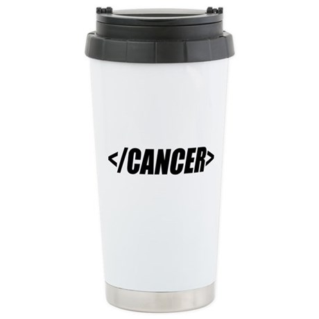 Geeky End Cancer Ceramic Travel Mug
